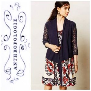 Anthro Knitted & Knotted Fallbrook Lace Cardigan S